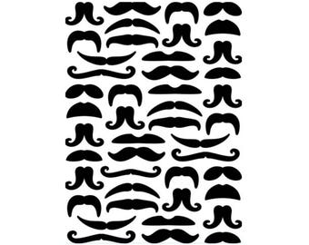 Mustaches Embossing Folder by Darice®
