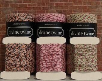 Your choice Holiday Twine, 10 Yards Holiday Twine, Halloween Twine, Peppermint Twine, Christmas Twine, Divine Twine, 100% Cotton