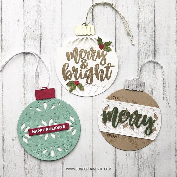 Ensemble décoratif Die, ornement de et Noël Die, Die l'hiver, Noël Die, Concord et de 9 5d05a9
