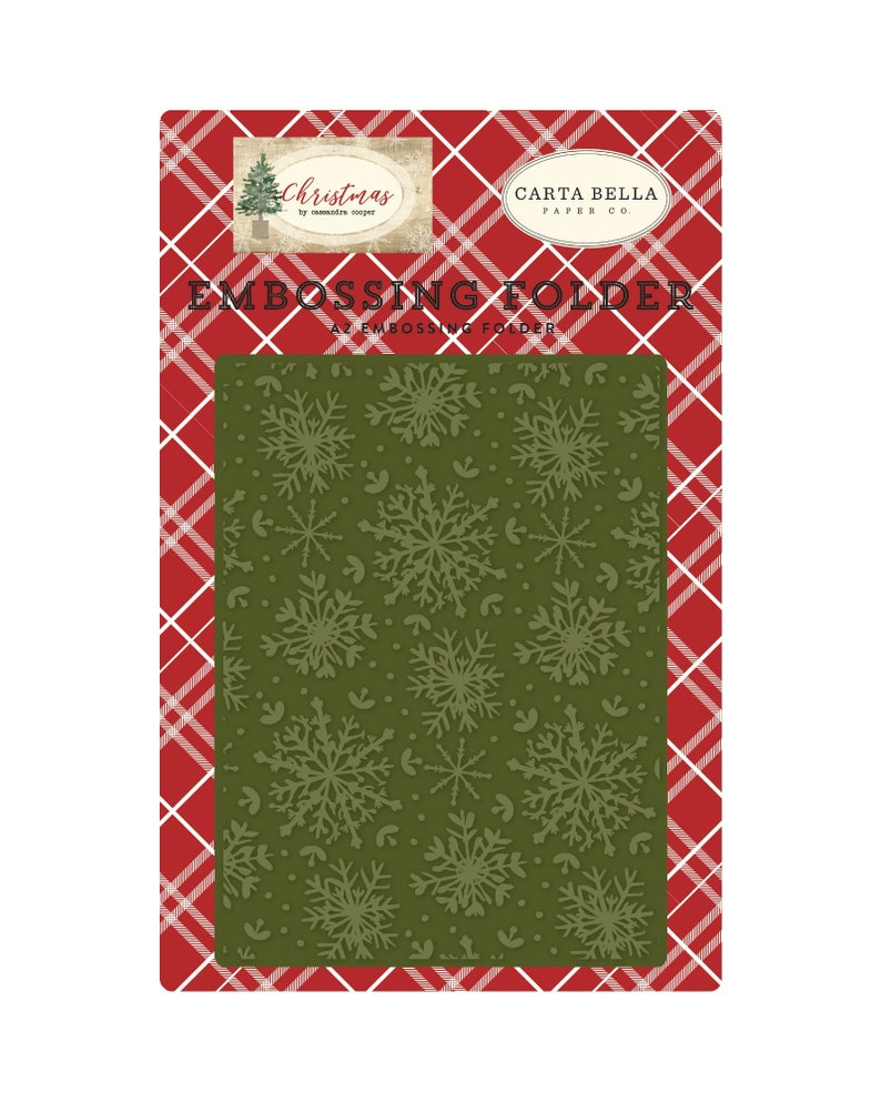 Christmas Frosted Snowflakes Embossing Folder Echo Park Folders Winter Snow