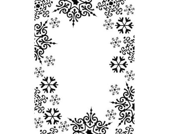 Snowflake Trim Embossing Folder, Darice® Embossing Folder