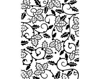Holly Vines Embossing Folder, Darice® Embossing Folder, Christmas Embossing Folder