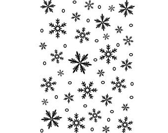 Snowflake Background Darice® Embossing Folder, Snow Embossing Folder, Winter Embossing Folder
