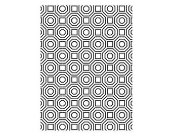 Octagon Geometric Embossing Folder, Darice® Embossing Folder