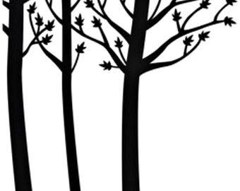 Darice® Embossing Folder, Tree Trunks, Forest Embossing Folder, Tree Embossing