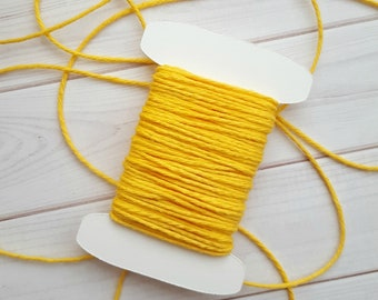 10 Yards Solid Yellow Baker's Twine, Divine Twine Baker's Twine, 100% Cotton
