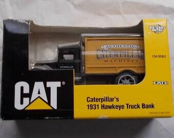 Caterpillar CAT 1931 Hawkeye Truck Company Bank 1/32 Ertl 2353 Die Cast 1996