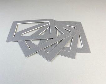 """5x7"""" / 8x6"""" / 10x8"""" / 10x12"""" / 11x14"""" / A4 / A3 / 6x6""""/ 20x20cm / 25x25cm / 30x30cm / 30x40cm / Picture Mounts/Packs of 5 - Mid Grey"""