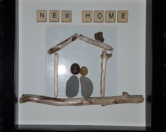 New home 1 pebble art picture