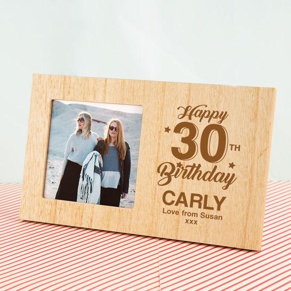 Personalised Birthday Milestone Photo Frame Wooden Photo Etsy