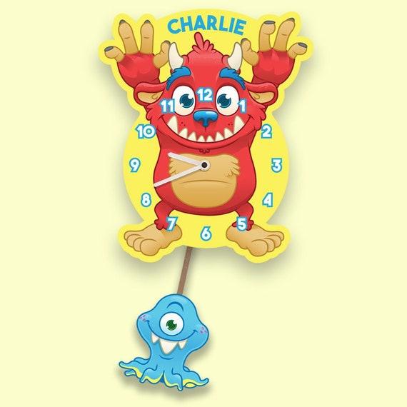 Amazon.com: HM&DX Cartoon Kids Wall Clock Non Ticking, DIY Silent Wall Clock  Arabic Numerals Decorative Clock for Nursery Room Children -g  28x39cm(11x15inch): Home & Kitchen