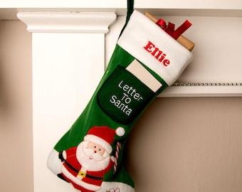 Personalised Santa Stocking - Classic Christmas Stocking, Santa Christmas Stocking, Kids Christmas Stocking, Santa Stocking Personalised.