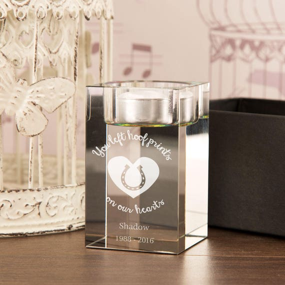 Pet Memorial Tealight Holder Glass Tea Light Holder Etsy