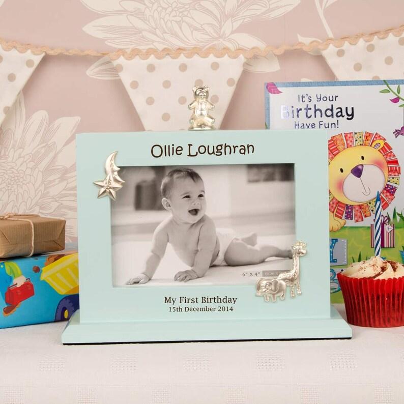 Personalised Boys First Birthday Flip Photo Album