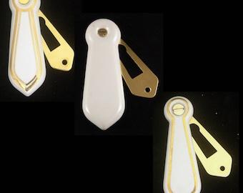 Ceramic White Keyhole Cover / Escutcheon (Pair)