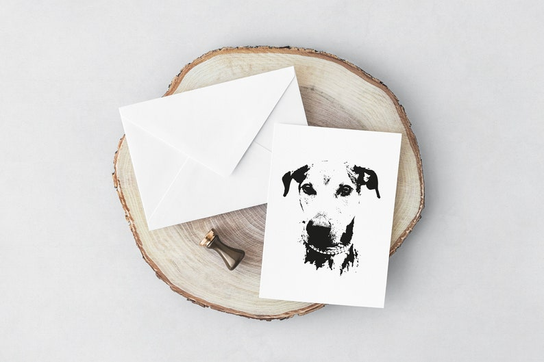 Dog 'Lurcher Cross' greeting card