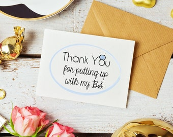 Bridal Party 'BS' Thank You Cards