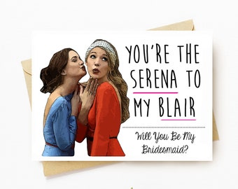 TV Besties Bridesmaid Ask Cards - PERSONALIZED - CUSTOM - Variation - Bridesmaid Cards - Wedding Cards - Bridal Party - Wedding Ask Cards