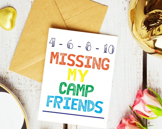Missing My Camp Friends Greeting Card Set