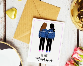 Denim Jacket Bridesmaid Ask Cards