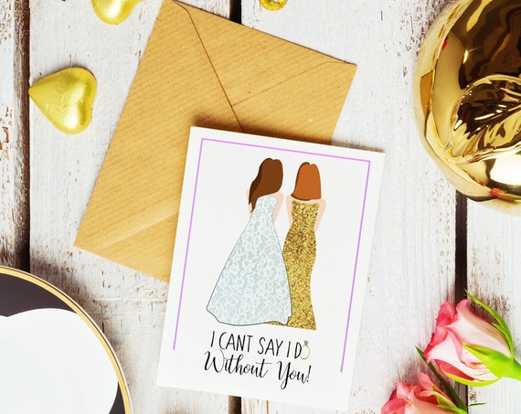 Bridesmaid Dress Ask Cards