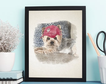 Illustrated Pet (S)portraits - Custom - Personalized - Pet Owners - Sports Themed - Pet Gifts - Furry Friends - Pet Portrait - Pet Paintings