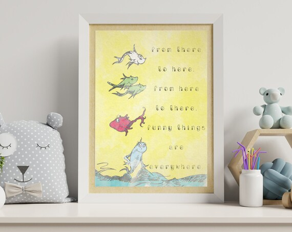 Dr Seuss Themed Nursery Wall Art
