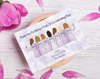 Illustrated Bridesmaid Itineraries For Wedding Weekend - Double Sided - Getting Ready Robes - Personalized - Custom - Wedding Day Timeline