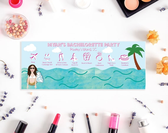 Beach Themed Bachelorette Party Itinerary