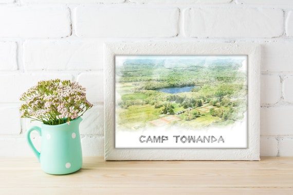 Custom Watercolor Summer Camp Prints