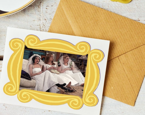 Friends Wedding Dress Bridesmaid Ask Cards