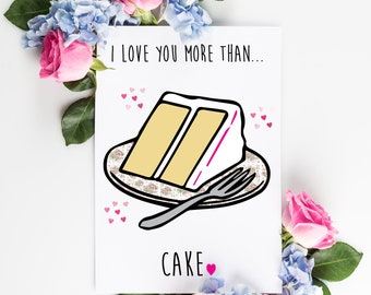 I love you more than card - Valentines - Personalized - Custom - Love Card - Couples Card - Couples Gift - Just Because Card - Greeting Card