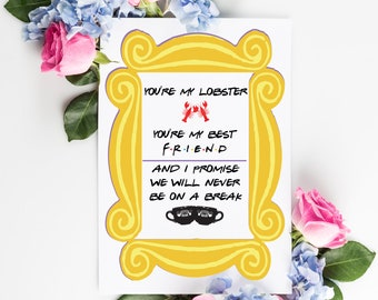 Friends Themed Valentines Card - Personalized - Custom - Love Card - Couples Card - Couples Gift - Just Because Card - Greeting Card