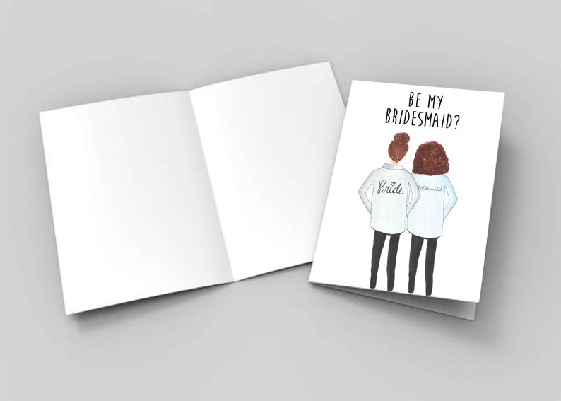Personalized Wedding Party Day Of Attire Bridal Party Hand Drawn Bridesmaid Ask Cards Getting Ready Shirts Illustrated Custom