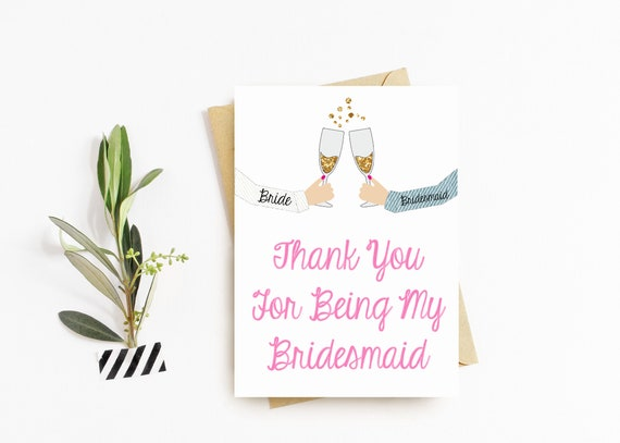 Bridal Party 'Cheers' Thank You Cards