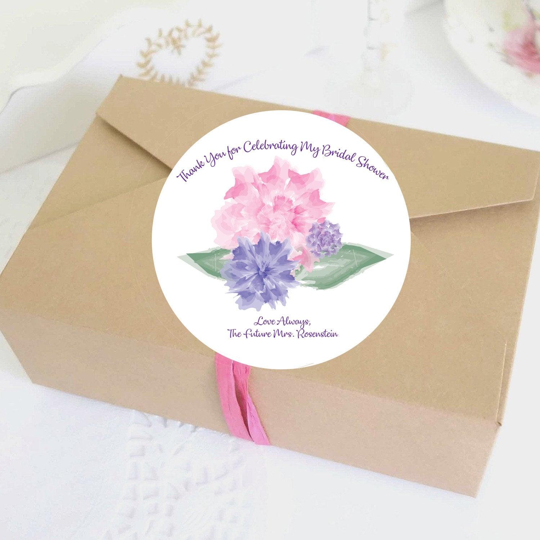 illustrated bridal shower favor labels bridal shower stickers custom personalized labels digital template wedding favor decor