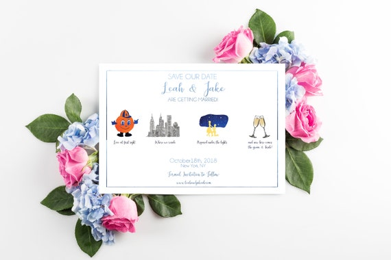 Mini Love Story Save The Date Cards