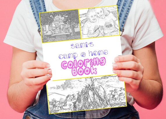 Custom Camp At Home Coloring Book