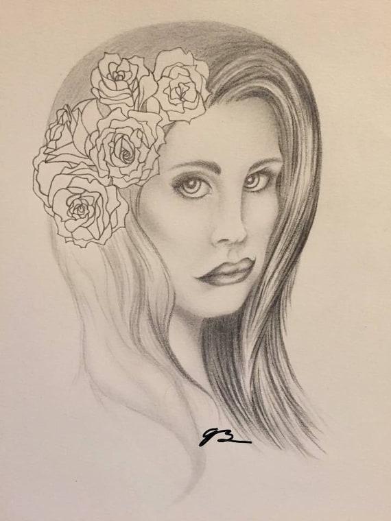 Lana Del Rey Drawing Art Print Etsy
