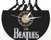 The Beatles vinyl record clock office decor wall art bedroom gifts unique gift box