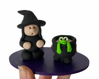 Witch & frog incense cone holder witch incense frog incense