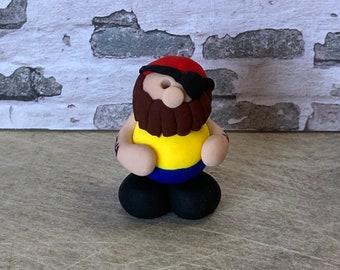 Pirate clay figure miniature model