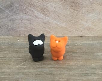 Cat clay figure miniature model