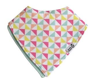 baby bandana bib, truly reversible - mint