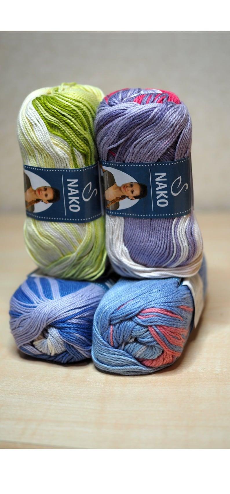 7ada5d4788d2c 100% Cotton Nako Gentle striped yarn hand knit multicolour   Etsy