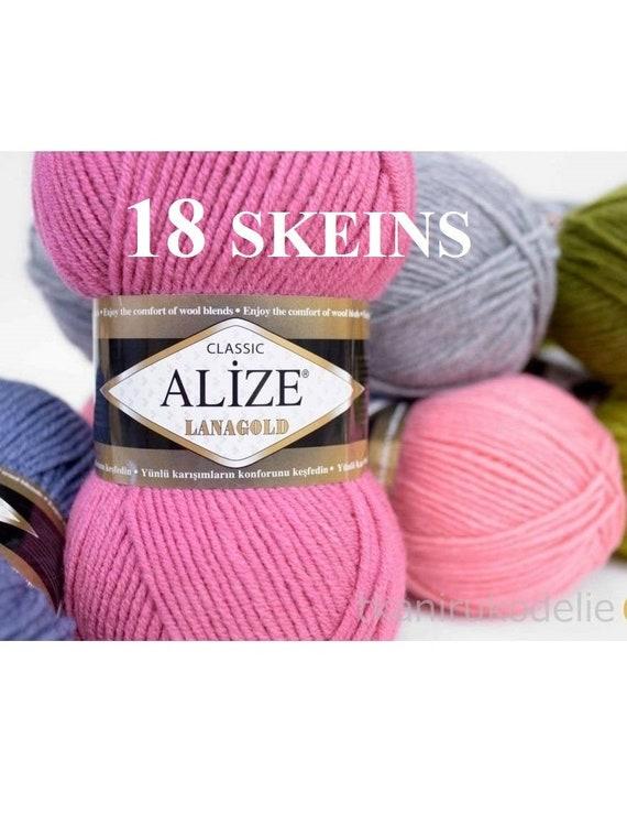 10 x Knitting Yarn 8 Ply 100g Multi Colour Purple Mix Soft Brand New