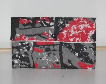 Purse, Wallet, African fabric,  Ankara, make up storage bag, pencil case, pantyliner / tampon storage bag