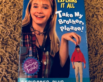 Nickelodeon Clarissa Explains It All VHS please take my brother please! Sony Wonder 1994 nicktoons tapes 90s
