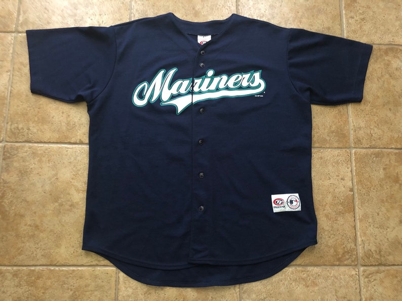 save off 9bead 13b21 Seattle Mariners Jersey Ichiro Suzuki navy size XL 2002 MLB baseball true  fan sports