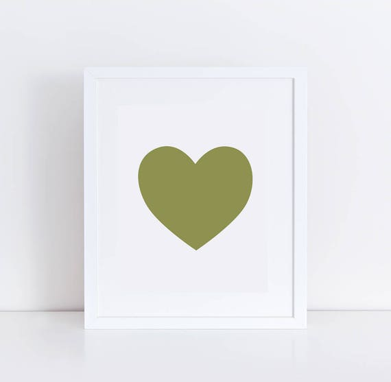image about Printable Heart known as Middle Wall Print / Printable Centre Artwork / Olive Inexperienced Center / Nursery Center Print / Impartial Centre Decor / Take pleasure in Print / Middle Gallery Wall